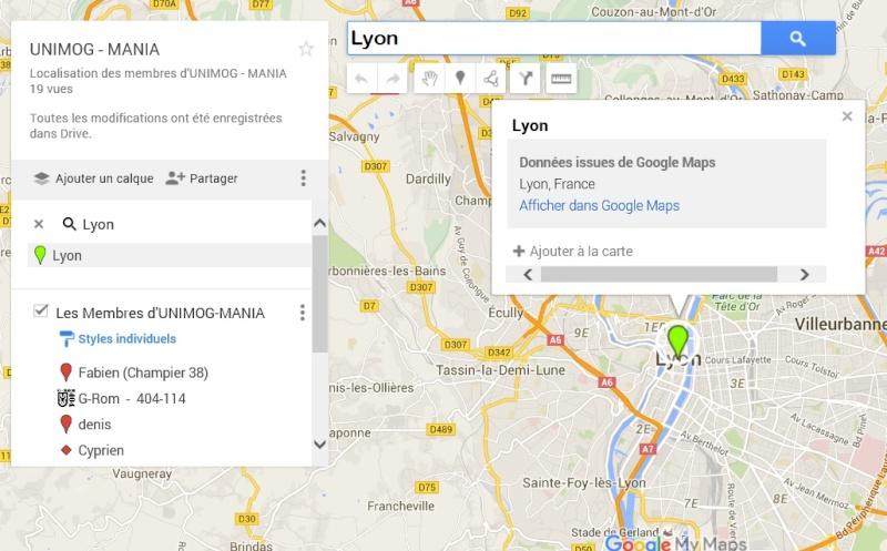 carte de localisation des membres  Lyon10