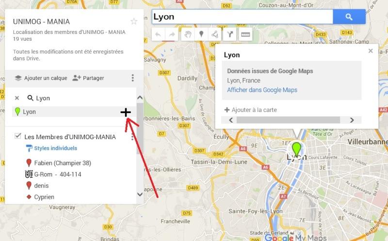 carte de localisation des membres  Lyon210