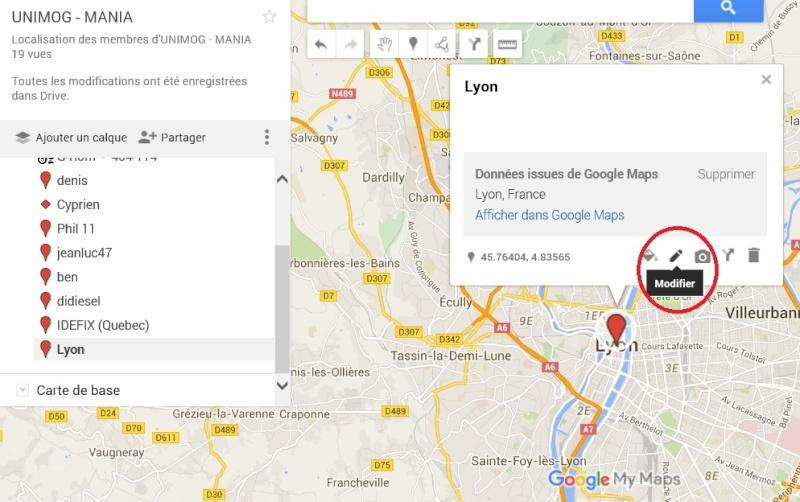 carte de localisation des membres  Lyon310