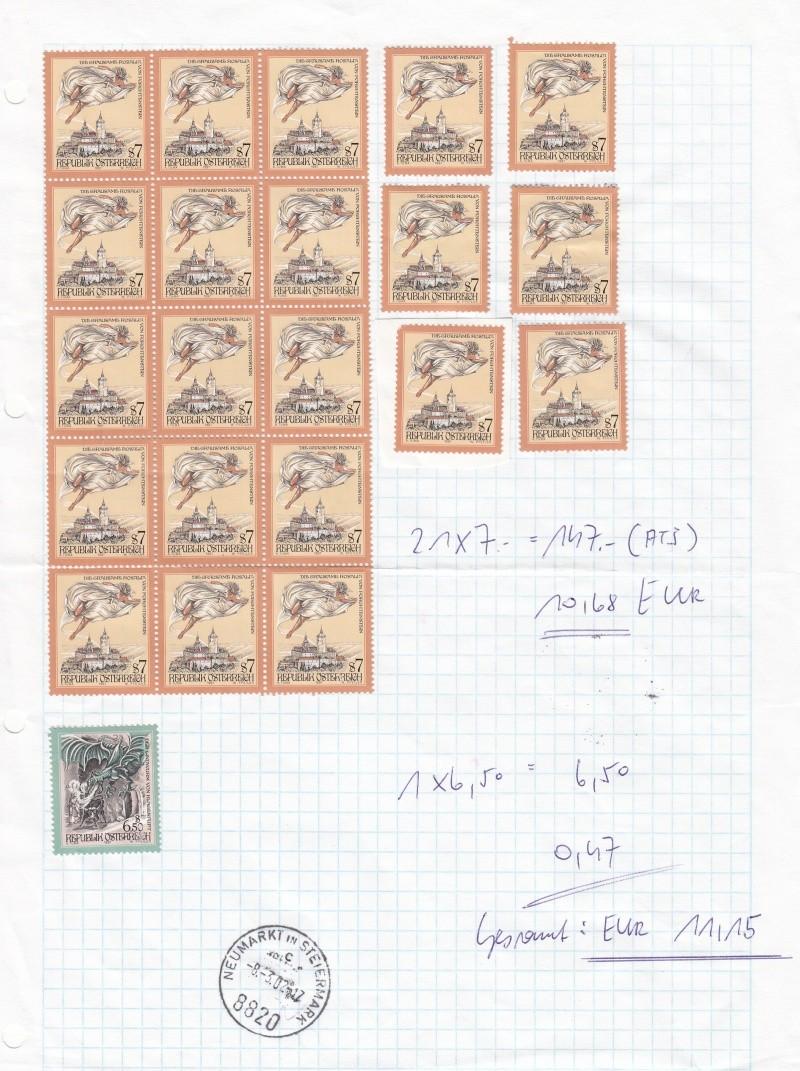 Umtausch Schilling Briefmarken in Euro Briefmarken Img_0029