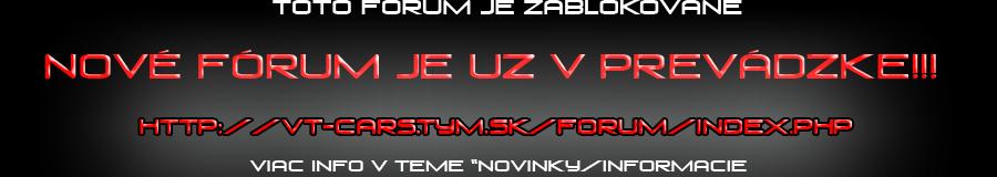 Nové fórum v prevádzke!!!