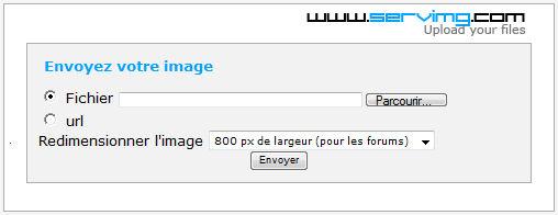 Pour envoyer une image, voilà comment faire Image210