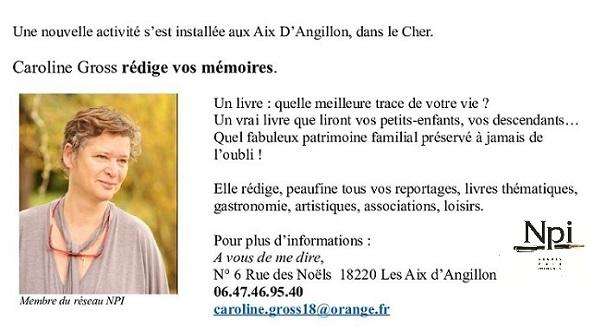 LES AIX D'ANGILLON (Cher) - Caroline Gross - Biographe familial, rédige vos mémoires 00518