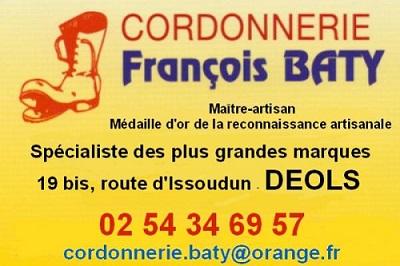 zj04. DEOLS - CORDONNERIE FRANCOIS BATY - Specialiste des plus grandes marques 11012010
