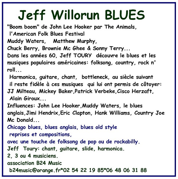 Jeff Willorun Blues Jwb10