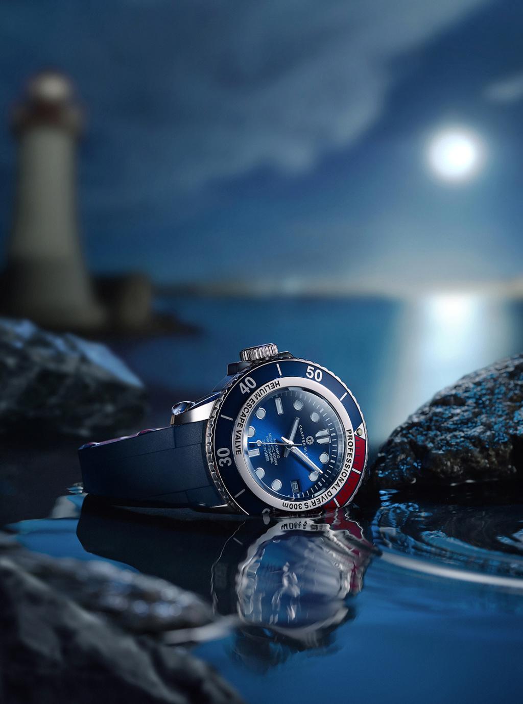 Ocean - Montre Crafter Blue - Blue Mechanic Océan Dive - 300m 4b8ff310
