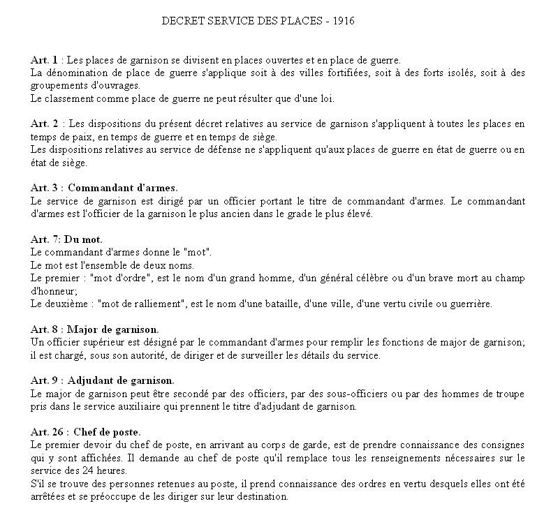 SERVICE DE PLACE Pl110