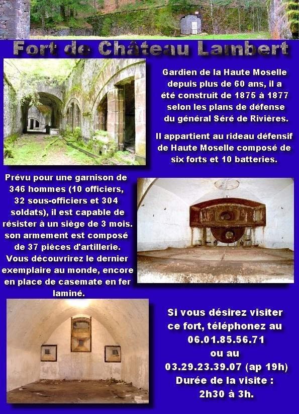 Visite guidée : fort de Château-Lambert Plaque10