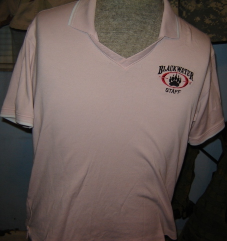 Blackwater shirts for a female employee 00223