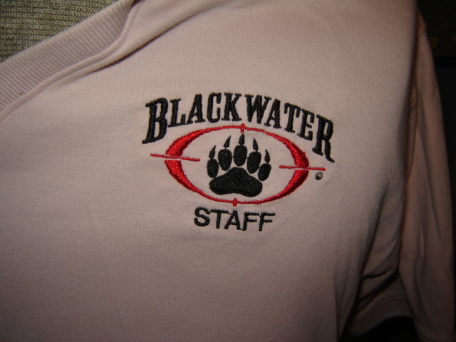 Blackwater shirts for a female employee 00429