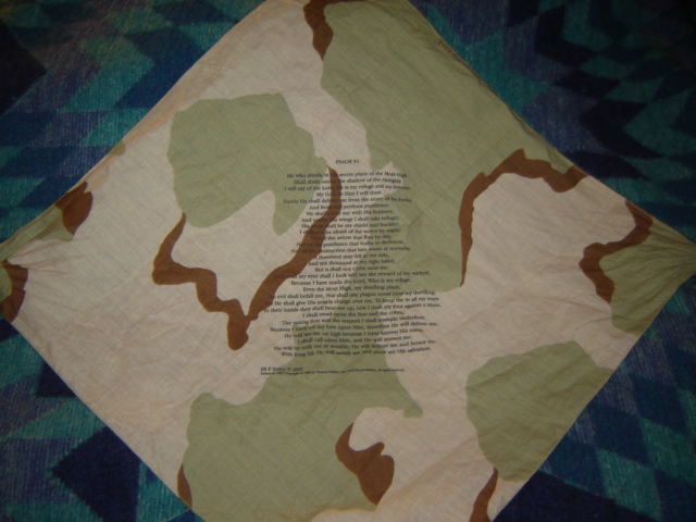 DCU Handkerchief with Psalm 91 Pictur83