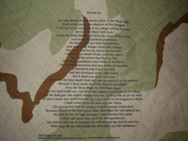 DCU Handkerchief with Psalm 91 Pictur84