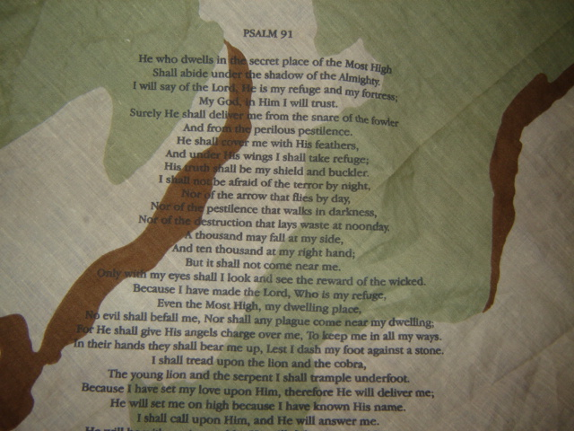 DCU Handkerchief with Psalm 91 Pictur85