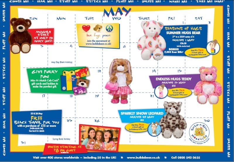 May Calendar for Uk Caelns10