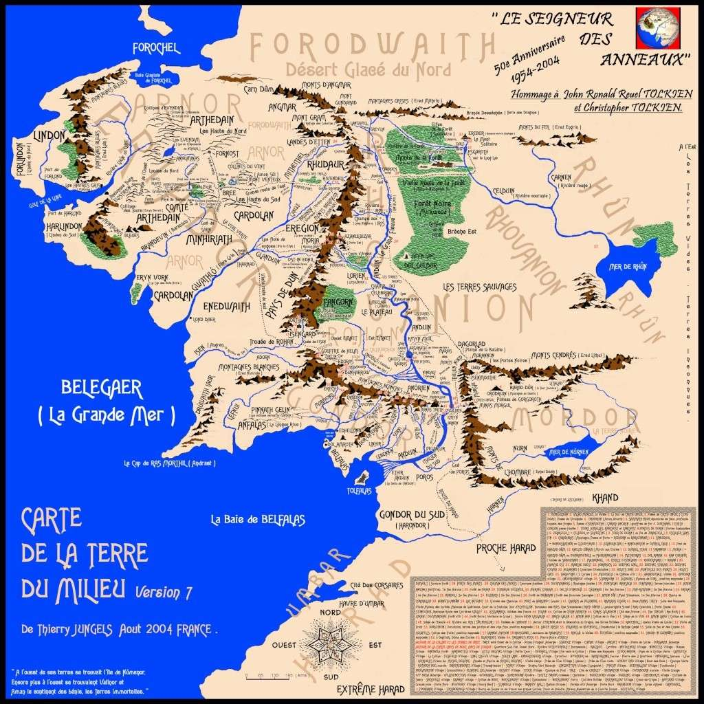 Cartes de la Terre du milieu 810