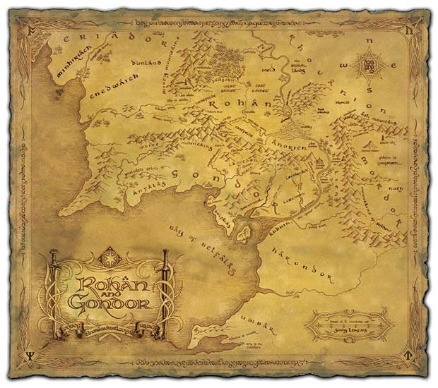 Cartes de la Terre du milieu Merch210