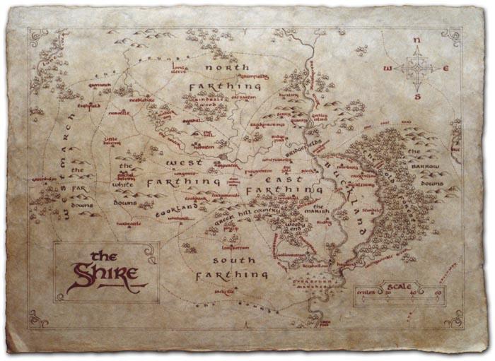 Cartes de la Terre du milieu Shire10