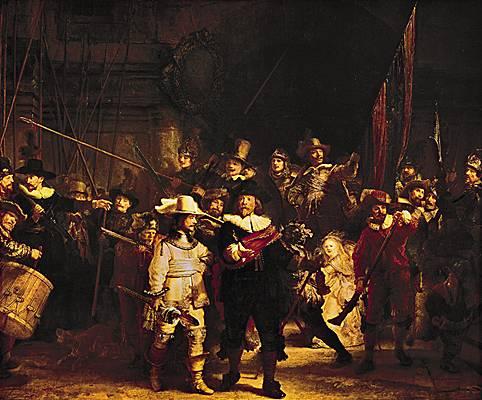 La ronde de nuit de Rembrandt 1642. 10093010