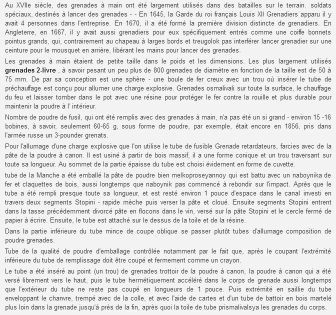 Grenades et grenadiers aux XVII° et XVIII° siècles. Sans_t26