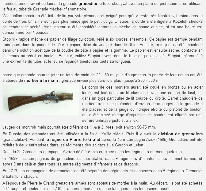 Grenades et grenadiers aux XVII° et XVIII° siècles. Sans_t28