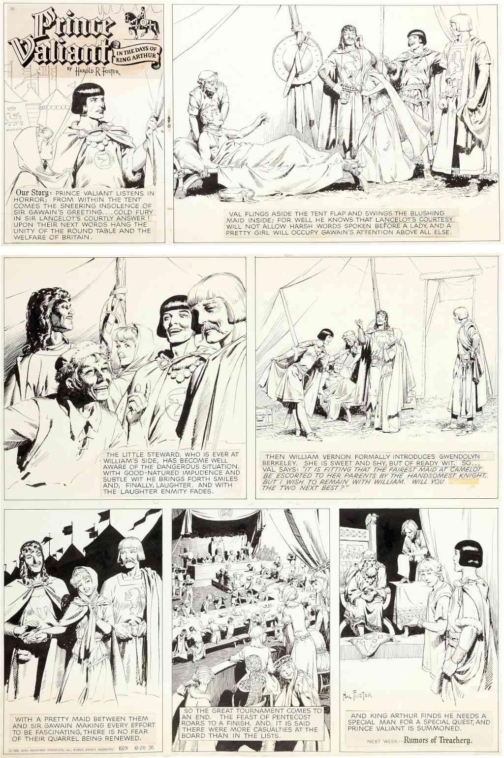 Prince Vaillant par Hal Foster - Page 15 Foster10
