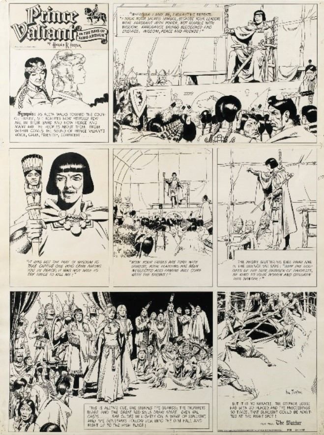 Prince Vaillant par Hal Foster - Page 15 Foster11