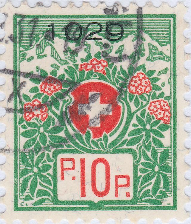 SBK 12A, Schweizer Wappen und Alpenrosen 12a_2_11