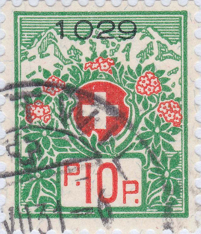 SBK 12A, Schweizer Wappen und Alpenrosen 12a_2_14