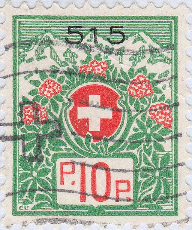 SBK 12A, Schweizer Wappen und Alpenrosen 12a_2_17