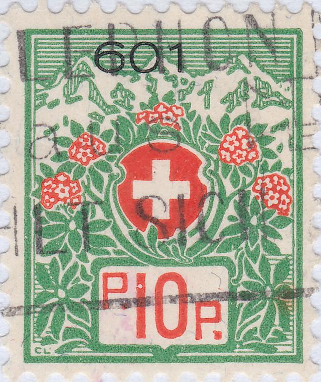 SBK 12A, Schweizer Wappen und Alpenrosen 12a_2_21