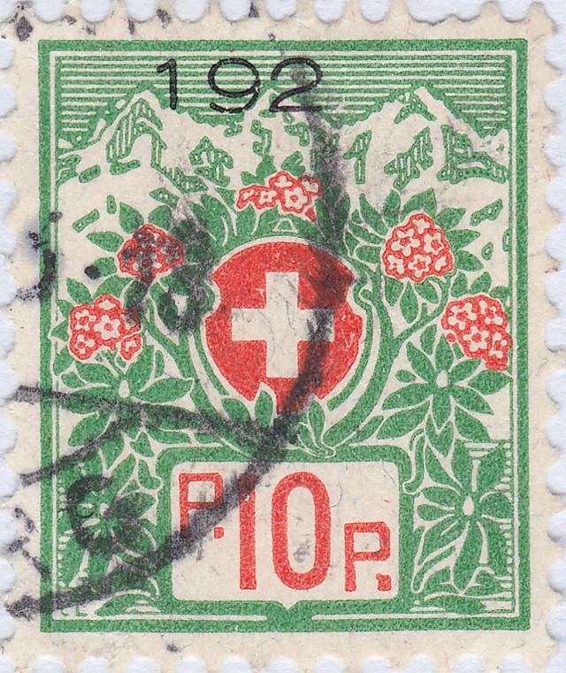 SBK 12A, Schweizer Wappen und Alpenrosen 12a_2_24
