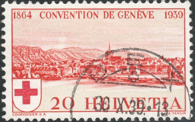 SBK 240 (Mi 357) Stadt Genf 20 Rp. rot 240-2-10
