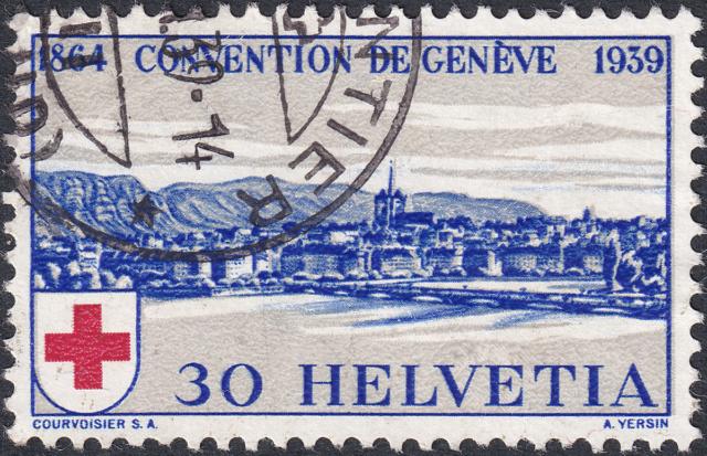 SBK 241 (Mi 358) Stadt Genf 30 Rp. blau 241-3-13