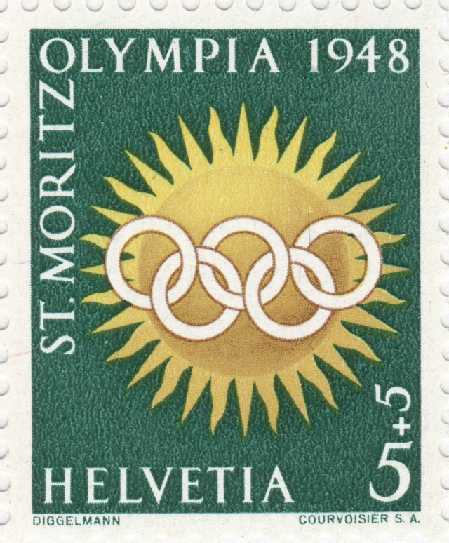 SBK W25w (Mi. 492x), Gedenkausgabe Olympische Winterspiele 1948, St. Moritz 25w_4_11