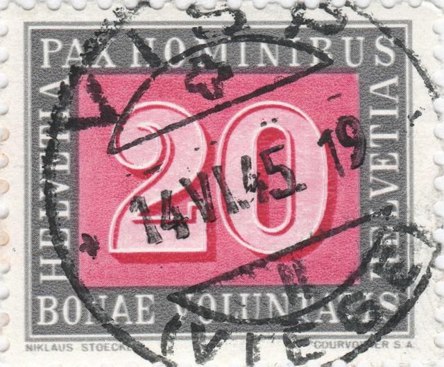 SBK 264 (Mi. 449), PAX-Marke 20 Rp. 264_4_11