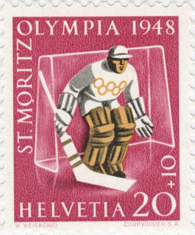 SBK W27w (Mi. 494x), Gedenkausgabe Olympische Winterspiele 1948, St. Moritz 27w_2_11