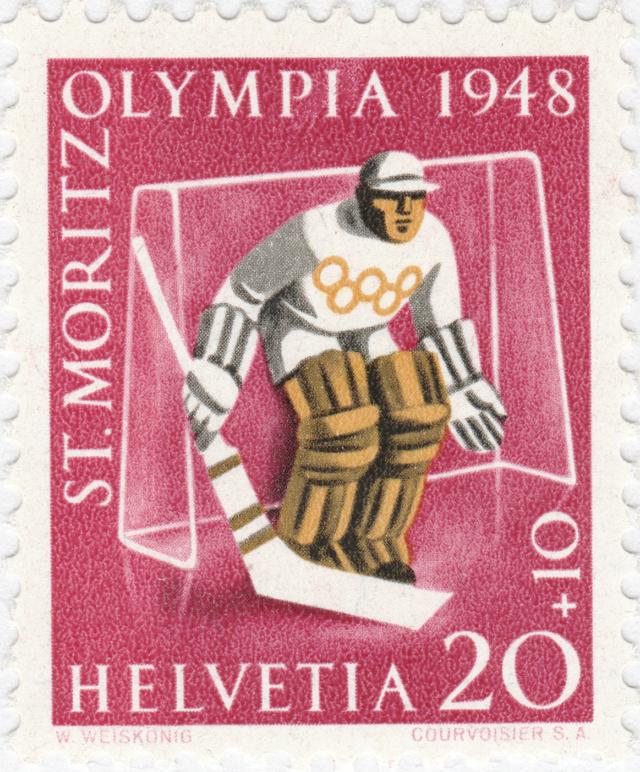 SBK W27w (Mi. 494x), Gedenkausgabe Olympische Winterspiele 1948, St. Moritz 27w_3_11