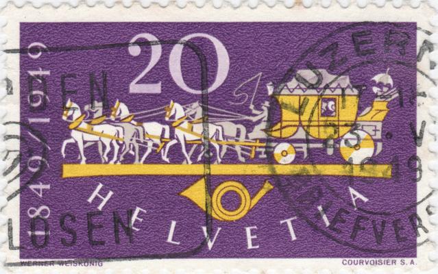 SBK 292 (Mi 520) Postkutsche / 100 Jahre Eidgenössische Post 292_3_11
