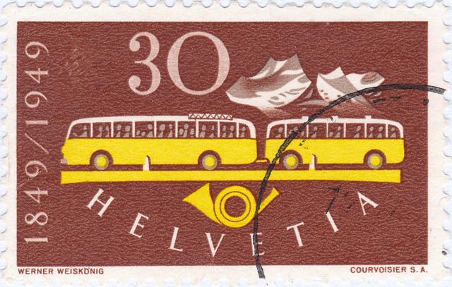 SBK 293 (Mi 521) Postautomobil / 100 Jahre Eidgenössische Post 293_3_10