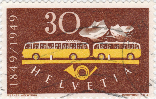 SBK 293 (Mi 521) Postautomobil / 100 Jahre Eidgenössische Post 293_4_11