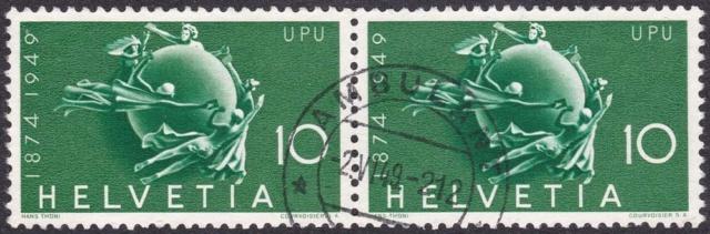 SBK 294 (Mi 522) Weltkugel als Symbol des Weltpostvereins 29410