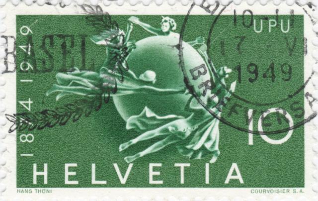SBK 294 (Mi 522) Weltkugel als Symbol des Weltpostvereins 294_2_12