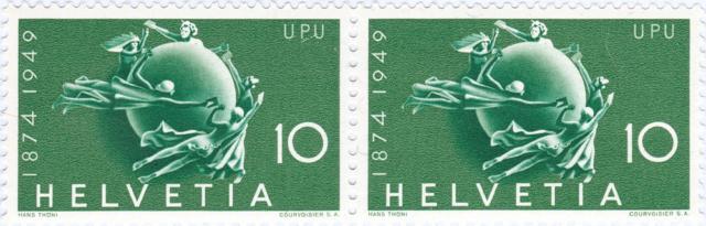 SBK 294, Weltkugel als Symbol des Weltpostvereins 294_4_10