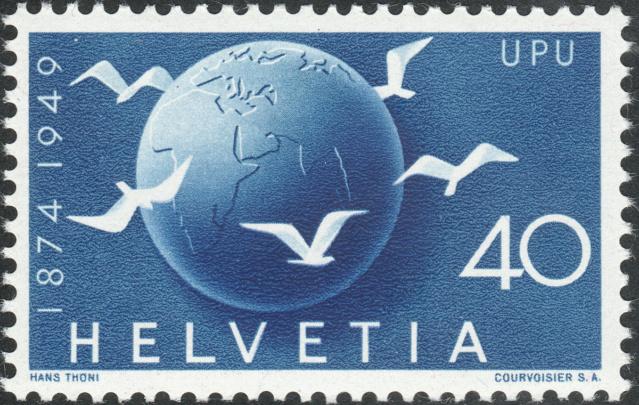 SBK 296 (Mi. 524), Weltkugel und Tauben 296-2-10