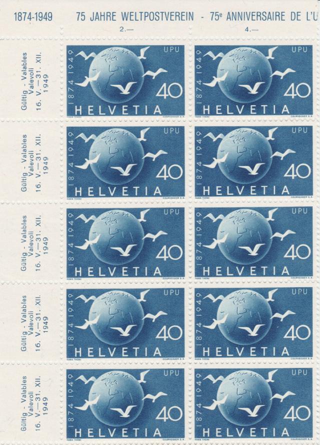 SBK 296 (Mi. 524), Weltkugel und Tauben 296_3_12