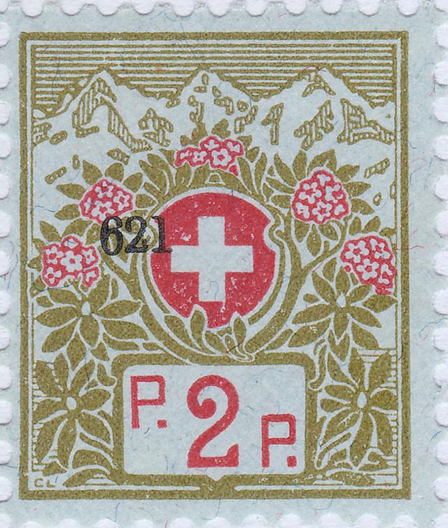 SBK 2A (Mi 2I) Schweizer Kreuz und Alpenrosen 2a_1a_10