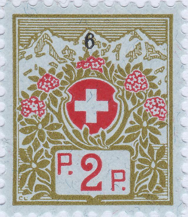 SBK 2A (Mi 2I) Schweizer Kreuz und Alpenrosen 2a_2_111