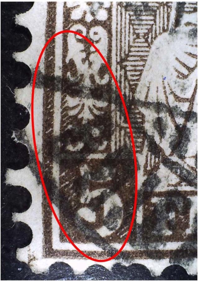 SBK 30 (Mi 22) 5 Rp braun, weisses Papier 1862 30_2_112