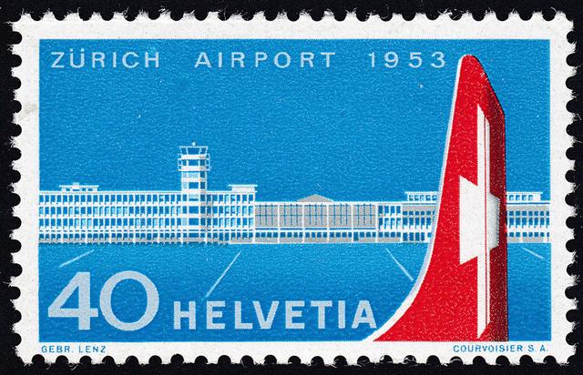 SBK 313 (Mi 585) Einweihung des Flughafens Zürich 313_3_11