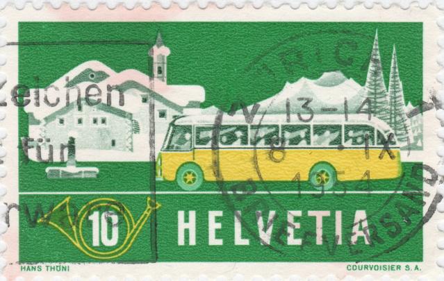 SBK 314 (Mi 586) Alpenpost im Winter 314_3_13
